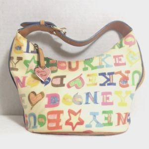 Dooney & Bourke doodle rainbow cream bucket bag